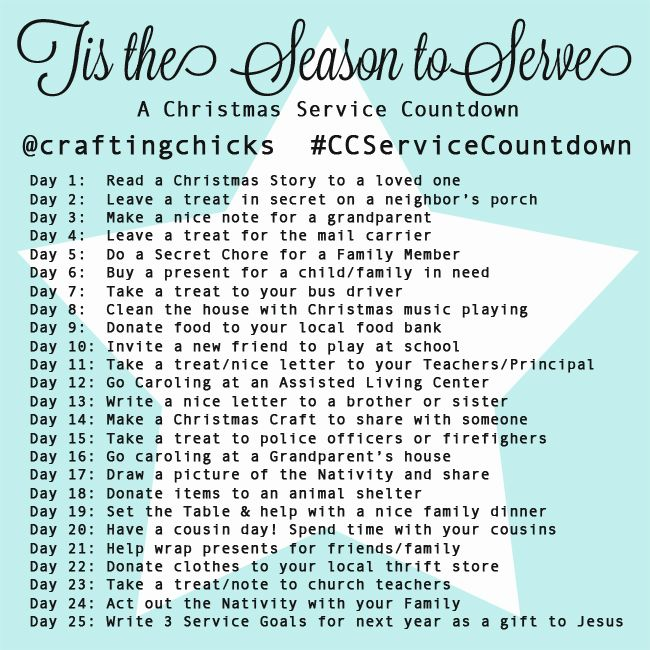 Christmas Service Countdown - Instagram Challenge! Come and play along! #CCServiceCountdown