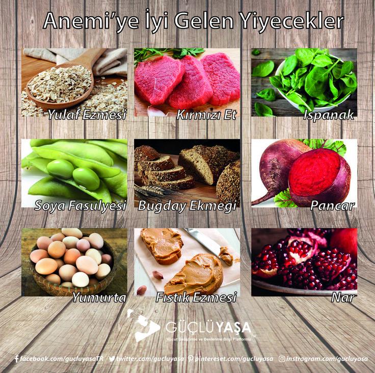 Anemi (Kansızlık) şikayetiniz varsa bu yiyecekler size yardımcı olabilir. gucluyasa.com  #diyet #diet #beslenme #nutrition #sağlık #fitlife #fityaşam #sağlıklıyaşam #sağlıklıbeslenme #sebze #meyve #zayıflama #kiloverme #kilo #türkiye #güçlüyaşa