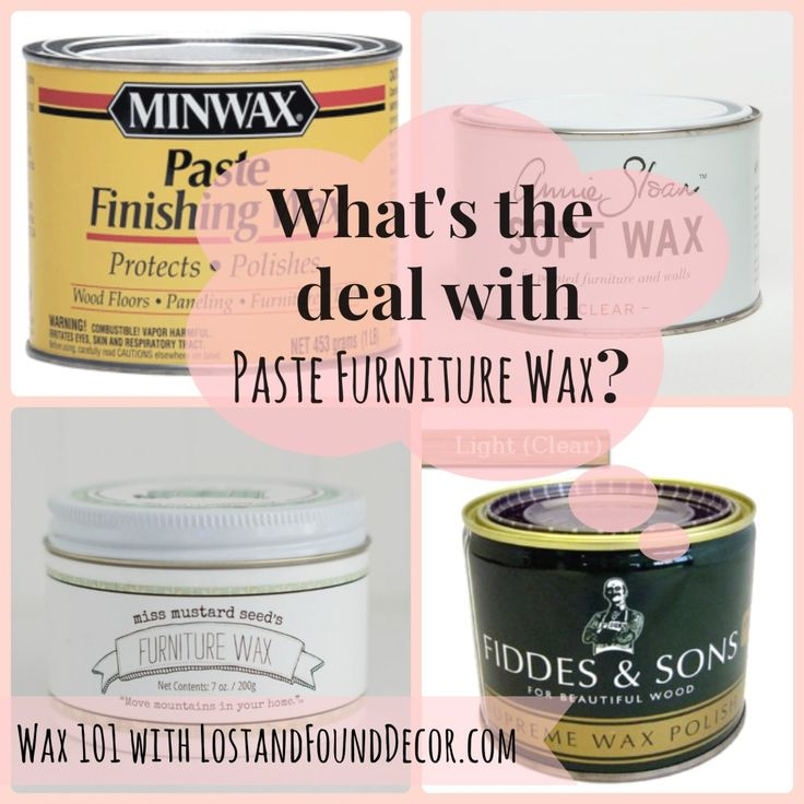 What's the Deal with Paste Furniture Wax — Wax 101 | http://www.lostandfounddecor.com/how-tos/whats-deal-paste-furniture-wax-wax-101/