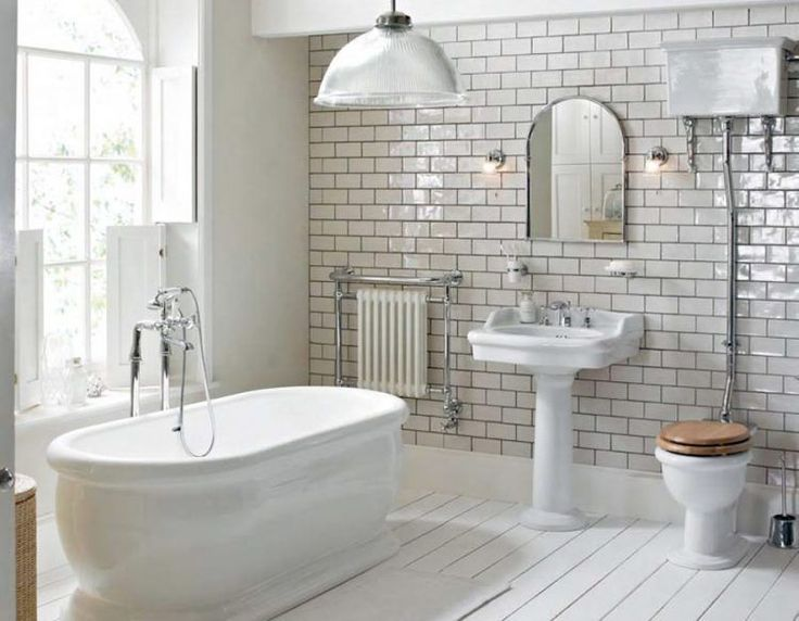 large subway tile in bathroom