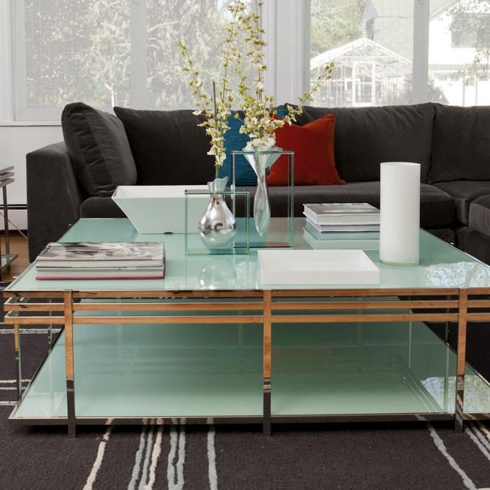 Small Tria Coffee Table in Seaglass