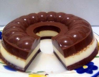 Resep Cake Puding Busa Coklat Berlapis Lembut http://dapursaja.blogspot.com/2015/05/resep-cake-puding-busa-coklat-berlapis.html
