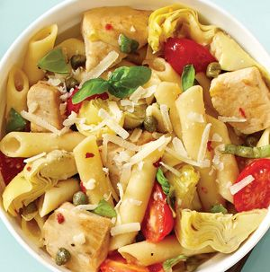 One-Pan Mediterranean Pasta truly is a dinnertime miracle. It cooks in a single pan AND it's gluten-free. Make it meatless by using vegetable broth and a can of chickpeas. Make it dairy free by omitting the Parmesan.