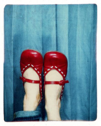shoes like this always make my feet look good, that's why I love them! Plus, they are red!