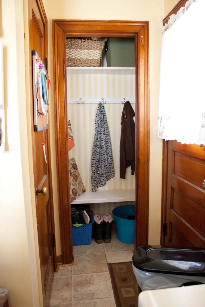 Coat Closet Into Mud Room Home Sweet Home Pinterest