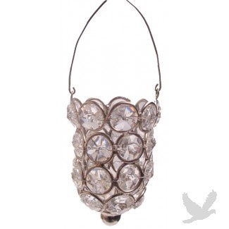 Crystal Hanging Votive Holder (12 Votive Holders) HOT! NEW! (Case of 12 = $7.98/Holder)