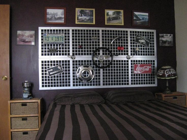 My guest bedroom, old car parts and stuff | Repurposed