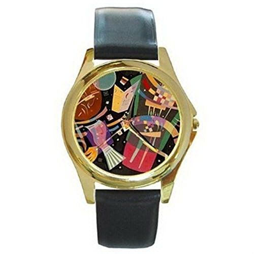 CDG203 Wassily Kandinsky Composition X Gold Watch Black Leather * You can find out more details at the link of the image.