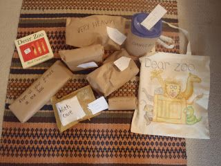 Dear Zoo story sack activity.