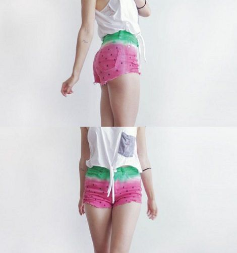 Cómo personalizar tus shorts de sandía