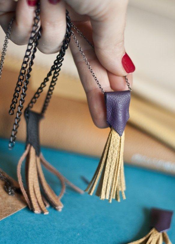 Leather necklace https://www.facebook.com/petiteZoohandmade