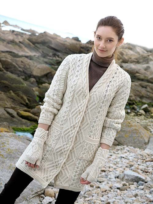 LONG BOYFRIEND COAT by Natallia Kulikouskaya for Aran Craft of Ireland