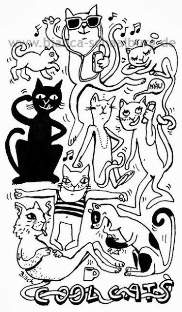 Bianca Schaalburg: Cool Cats - jetzt neu: der Shop für T-Shirts, Tass...