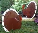 thanksgiving yard decorations  | high struttin turkey trotters are a fabulous fall yard art decoration ...