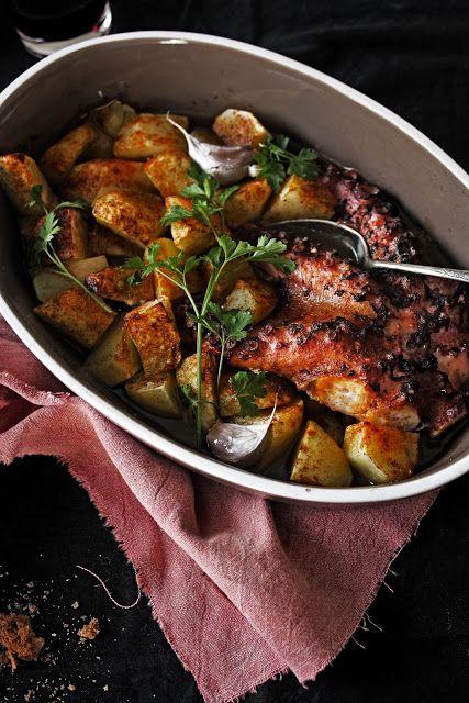 roasted octopus stew with porto wine  (polvo estufado com vinho do porto)