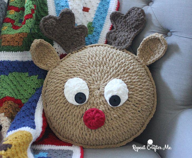 Dieses niedliche Elskissen ist genau das richtige für Weihnachten.        Anleitung Kostenlos  Englisch  Online verfügbar     zur Anleitu...