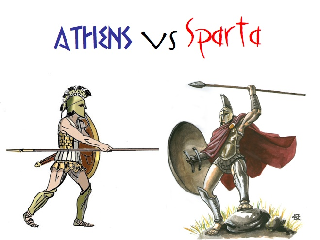 a comparison of the spartans and athenians in society What are the differences between athens and sparta a: how would you compare and contrast athens and sparta where members of society served as leaders of the.
