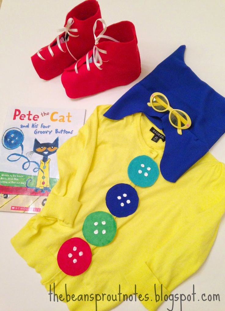 The Bean Sprout Notes: Pete the Cat Four Groovy Buttons Costume