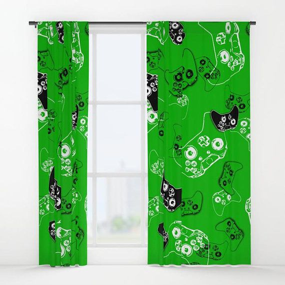 Gamer Room Window Curtain, Gamer Curtains, Boys Curtains, Gamer Gifts, Video Game Decor, Gaming Decor, Gamer Birthday Gift, Gamer Party