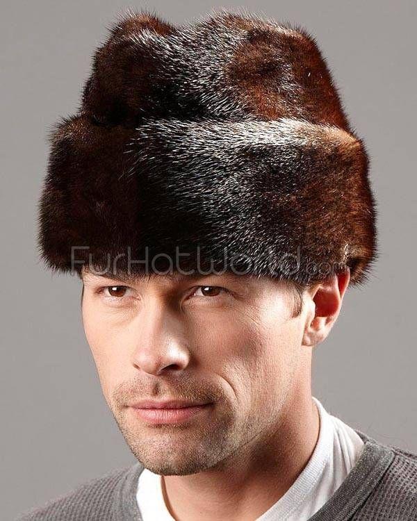Mink Fur Russian Cossack Hat - Mahogany