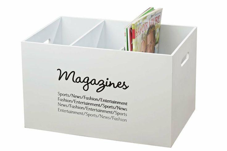 Vintage Zeitungsständer Holz ~ Zeitungsständer Magazines aus Holz Zeitschriftenhalter Landhaus weiß