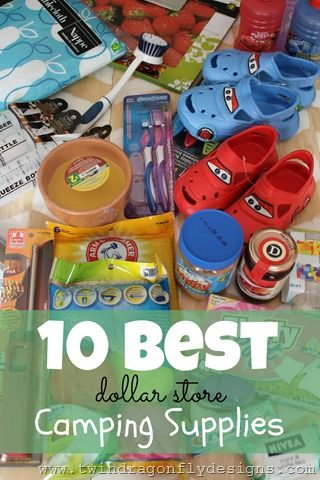 10 Best Camping Supplies from the $1 store!