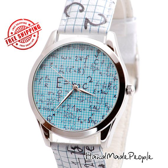 Einstein Relativity Watch, Extraordinary Unisex Wrist Watch, Cool Gifts for Guys, Unusual Gifts for Women - Worldwide Free Shipping by handmadepeople. Explore more products on http://handmadepeople.etsy.com