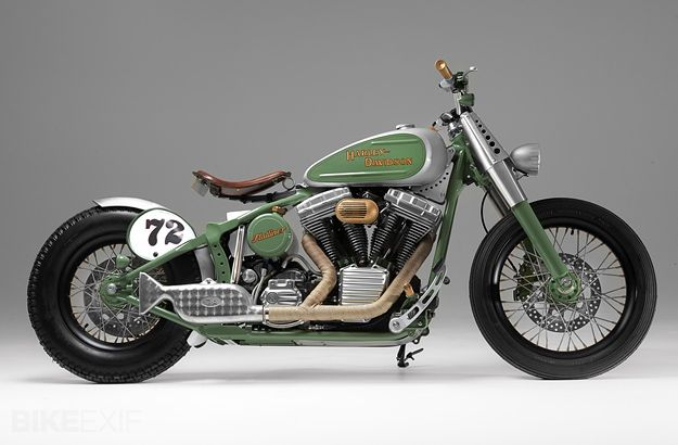 Harley Davidson FLSTC Heritage Softail Bobber Motorcycle - Right Side
