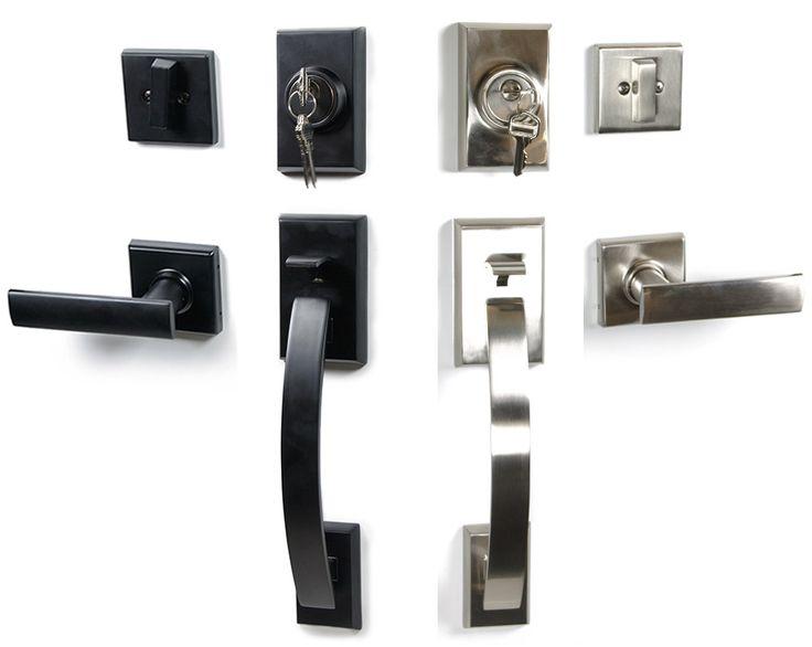 front door handleset38 best Front Doors and Locksets images on Pinterest  Modern