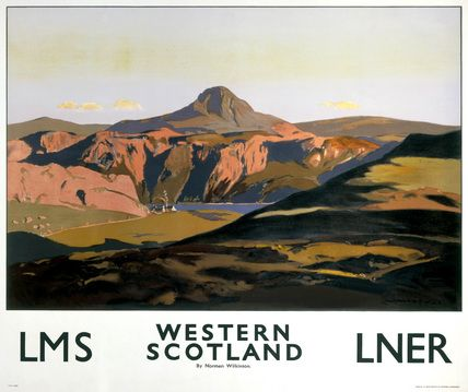 Western Scotland by Norman Wilkinson Norman Wilkinson CBE was a British artist who usually worked in oils, watercolors and drypoint. He was primarily a marine painter, but he was also an illustrator, poster artist, and wartime camoufleur.