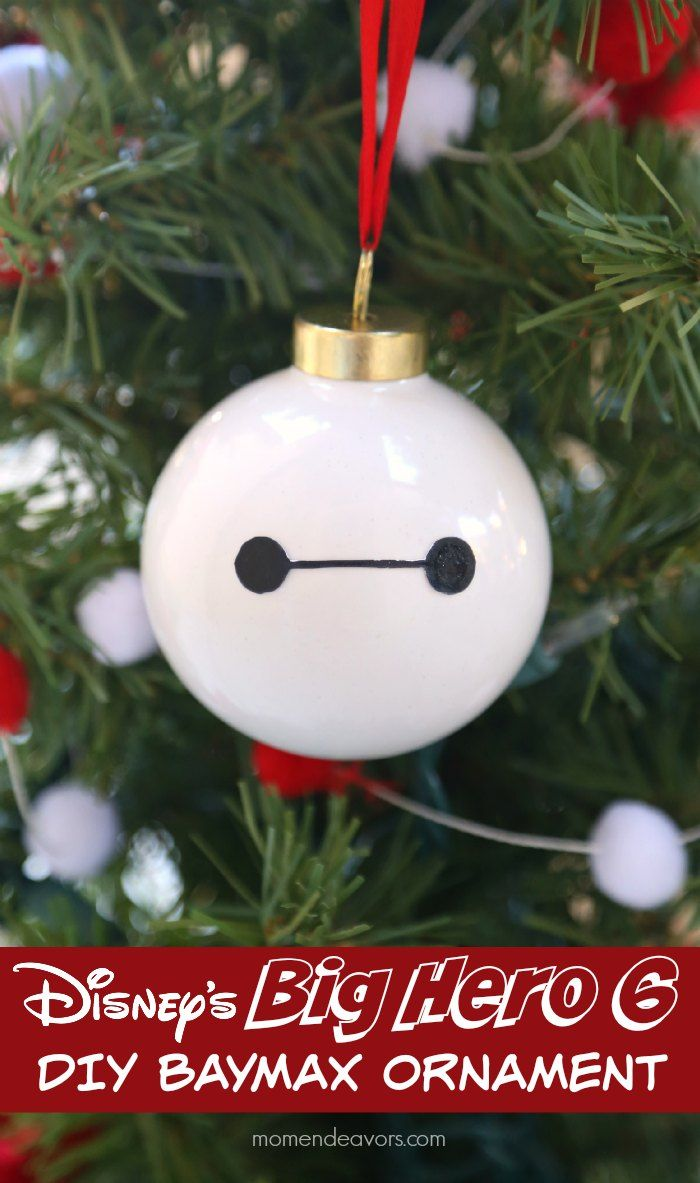 How to make a christmas decor out of recycled materials - Diy Disney S Big Hero 6 Baymax Ornament So Easy To Make Super