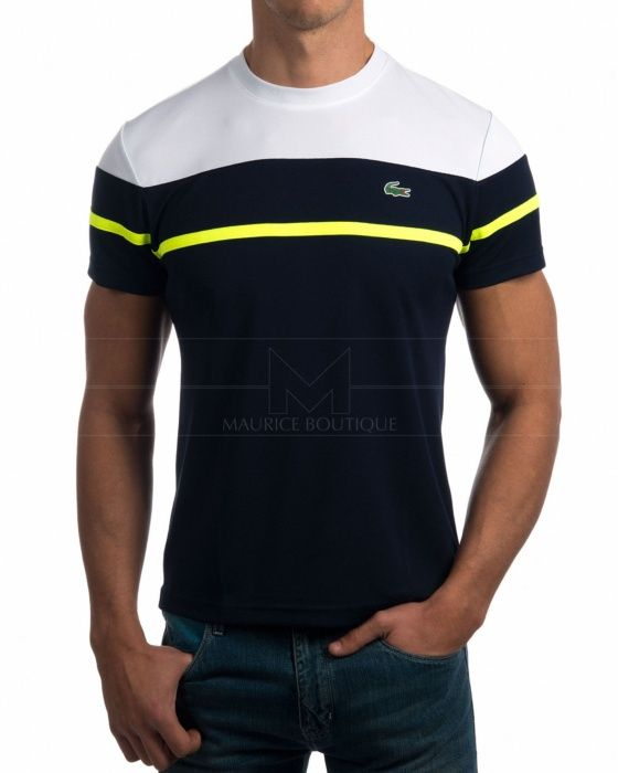 Camisetas Lacoste - Azul Marino & Blanco