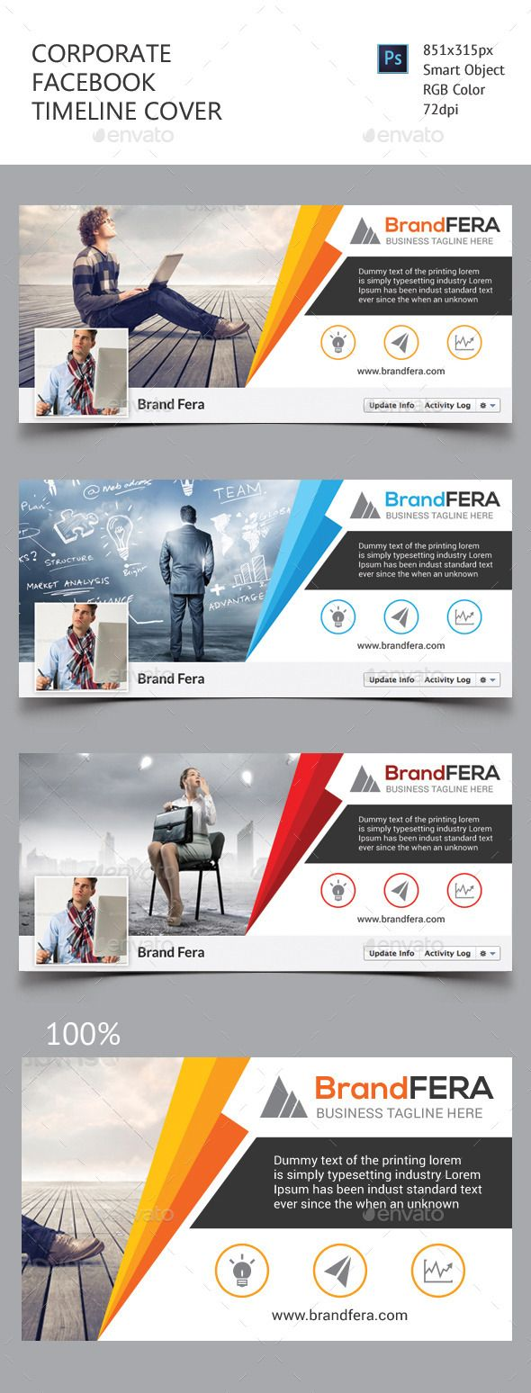 Corporate Facebook Timeline Cover Template PSD #design Download…