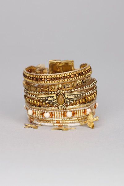 Multi bracelets Ohmygold Doré Hipanema sur MonShowroom.com