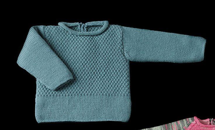 Tijdschrift Baby 78 Herfst / Winter   18: Baby Trui   Groenblauw