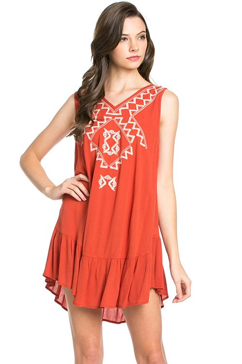 10 Best ideas about Burnt Orange Dress on Pinterest  Brown outfit ...