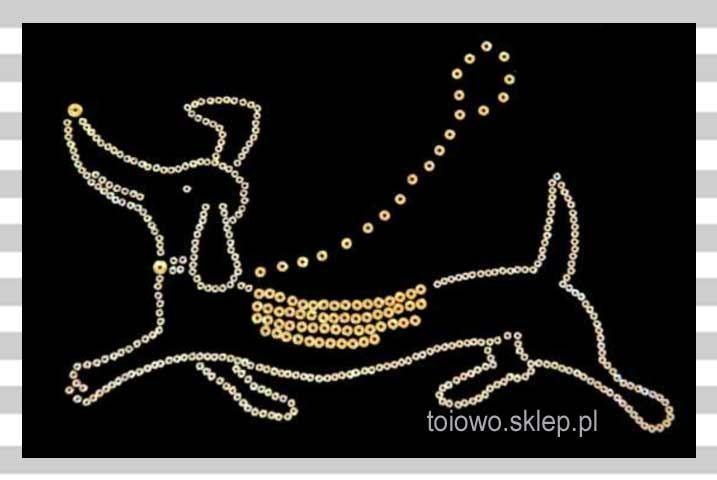 cekinowe termowzorki - pies