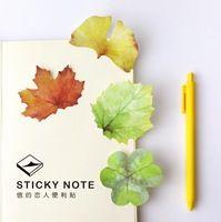 Colorido Acuarela Caído Hojas Memo Libreta Bloc de notas Autoadhesivas Notas Adhesivas Bookmark Papelería Regalo Promocional