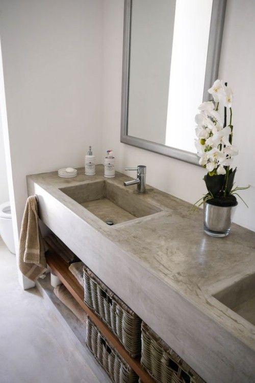 Évier en pierre naturelle dans le contexte des tendances de salle de bains modernes