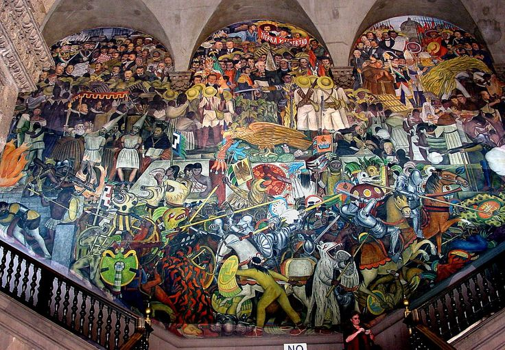 The history of mexico from the conquest to the future for Diego rivera mural 1929