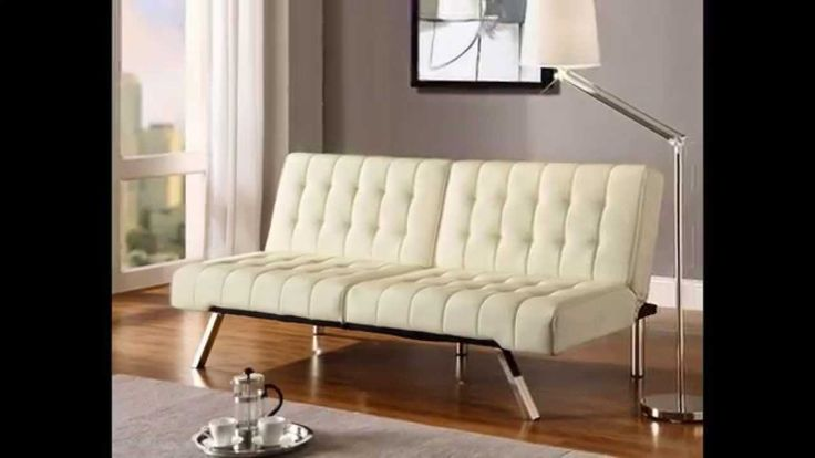 Sofa Dorel Home Products Emily Splitback Futon, Vanilla | Home Sofa Sleeper
