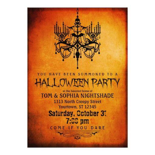383 best halloween baby shower invitations images on pinterest halloween chandelier party invitation stopboris Images