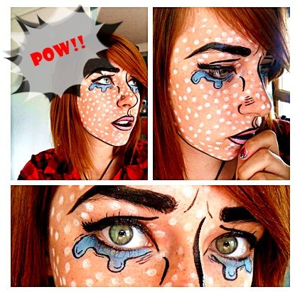 comic book Pop art Make up by ~Arisusandasu @Allyson Angelini Angelini Angelini McGuire I thought your sister might be interested in trying this out.