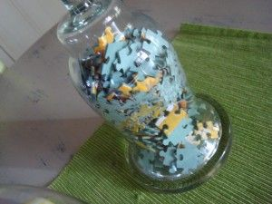 Puzzle Pieces Crafts Pinterest In A Jar Small Glass