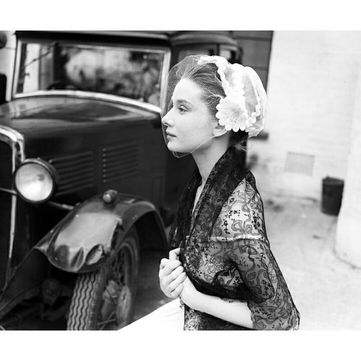 Audrey Hepburn photographed at Ealing Studios in London, 1951