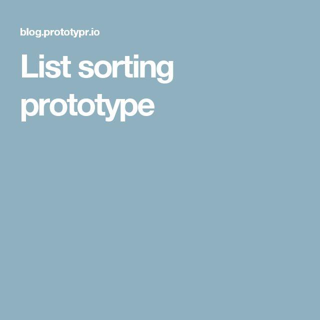 List sorting prototype