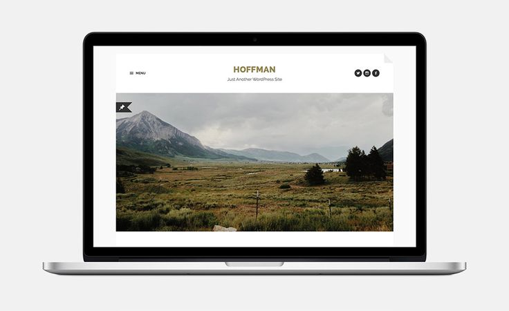 Hoffman is a stylish and beautifully minimal WordPress theme for bloggers.