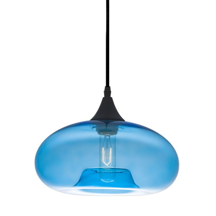 bonita light pendant in blue tint