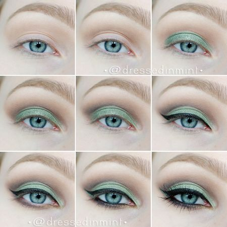 green cut crease HOW TO