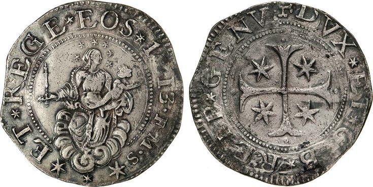 NumisBids: Numismatica Varesi s.a.s. Auction 65, Lot 384 : GENOVA - DOGI BIENNALI, III fase (1637-1797) Scudo 1713, sigle FMS....